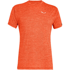 SALEWA Puez Melange Dry T-shirt Heren, red orange melange